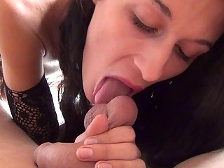 My homemade blowjob with cumshot in mouth