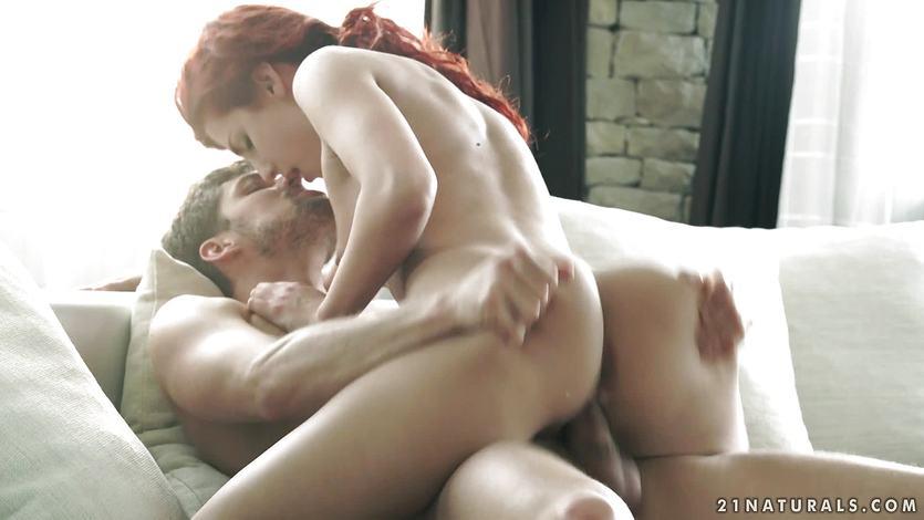 Beautiful redhead stuffed in her pussy | PornTube ®