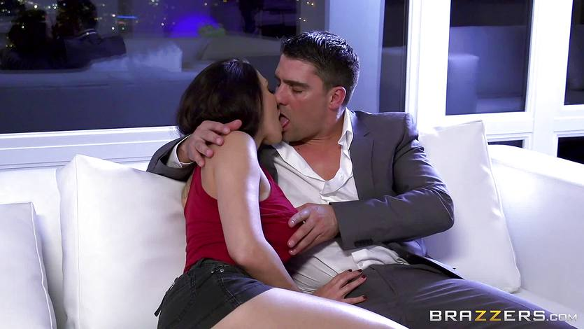 Rachel Starr fucking her husbands hot suited boss | PornTube ®
