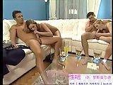 Seks grupowy z blondynkami