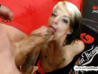 Extreme Bukkake - Dirty MILF Used