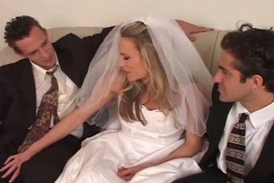 cuckolded on my wedding day threesome - Threesome porn