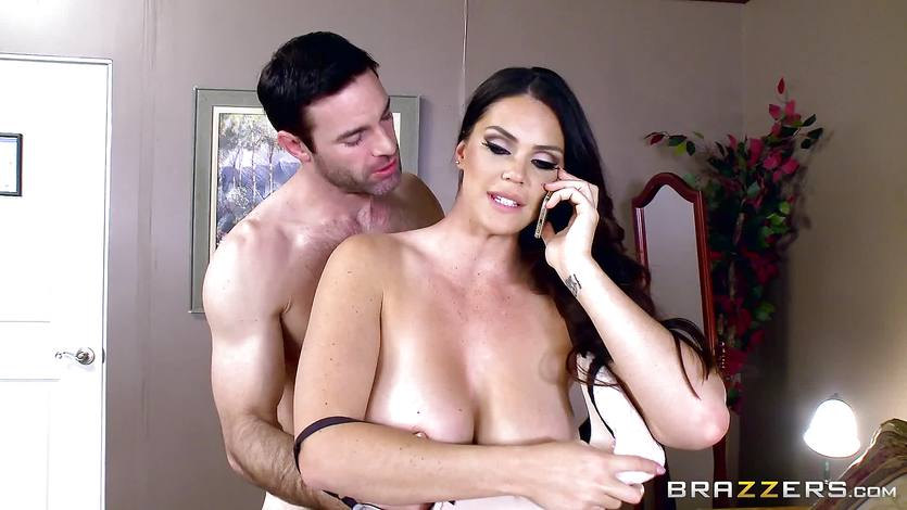 Massive titted Alison Tyler fucks her lover as she speaks to... | PornTube ®