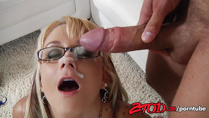 Briana Blair gets cum in her eye | PornTube ®
