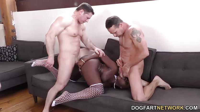 Ebony Osa Lovely gets gangbanged on her birthday | PornTube ®
