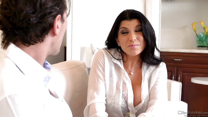Romi Rain milks every drop from this lucky cock | PornTube ®