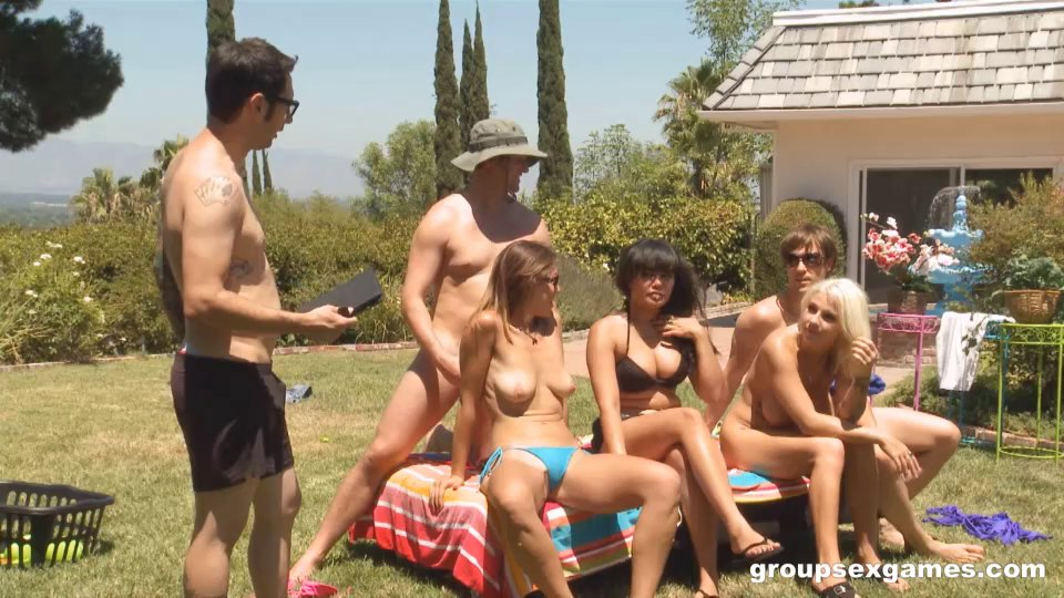 Party In The Grass Turns Into A Wild Group Sex Scene