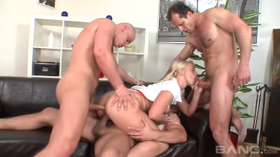 GANGBANG FOR A SLIGHTLY THICK NURSE - Porn Video 451