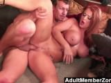 AdultMemberZone - Busty Redhead Shakes her Ass for Cock