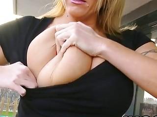 Extrodrinary Big Tits Babe Slutty Laura