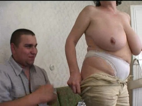 Russian mature mom with her fat boy