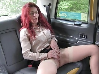 Hot passenger banged by horny cab driver