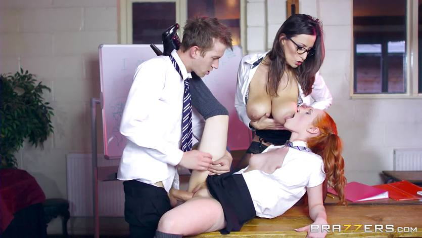 Danny D gets warped into a porno of Brazzers - Sensual Jane and Ella Hughes