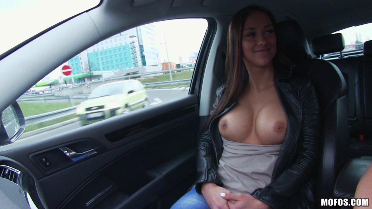 Sexy Victoria Sweet And Her Very First Cowgirl Cock Ride In The Car
