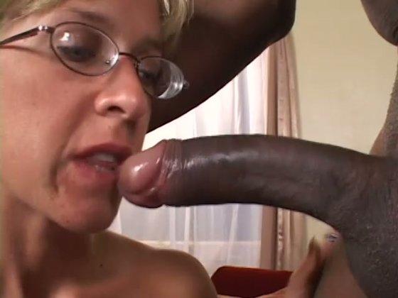 Blonde sweet MILF has fun with huge black guy. Interracial sex - Interracial porn