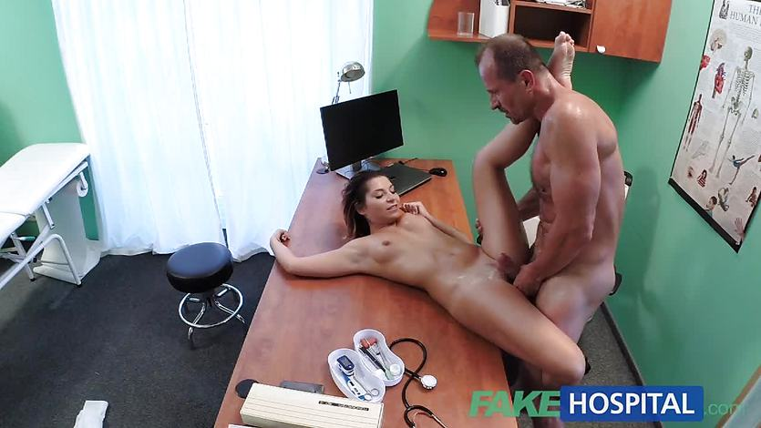 FakeHospital Petite Euro patient orgasms pussy juice