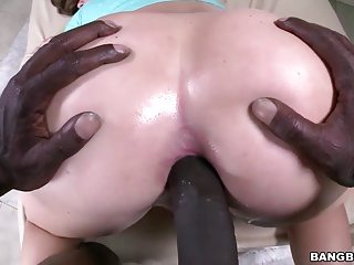 Maddy O'Reilly ass fucked by black dick