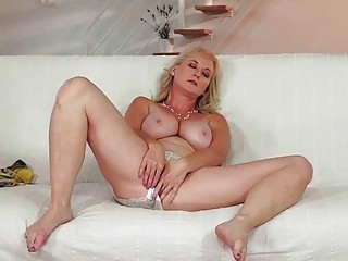 Hot busty granny enjoying young cock in her ass - Sunporno Uncensored