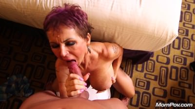 Busty Euro GILF squirts on a young cock - Porn Video 111