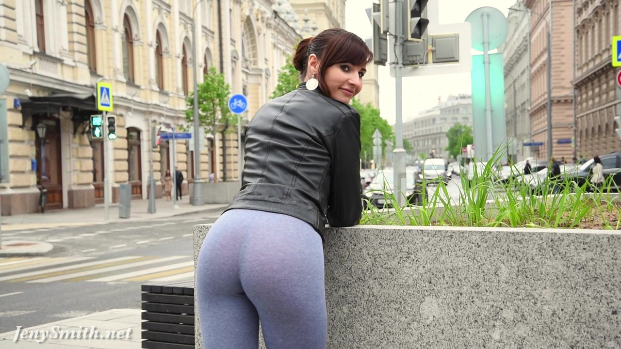 Jeny Wants Everyone To Take A Look At Her Mesmeric Cameltoe!