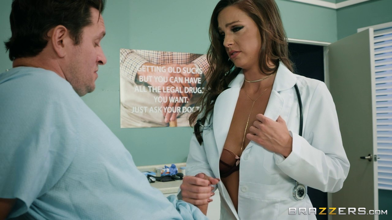 Perfect Nurse Abigail Mac Once Again Rides A Patient's Stiff Cock