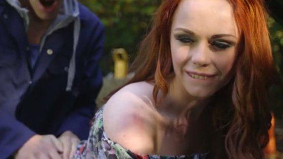 Horny mechanic butt fucks sexy ginger babe outdoors hard - Hardcore porn
