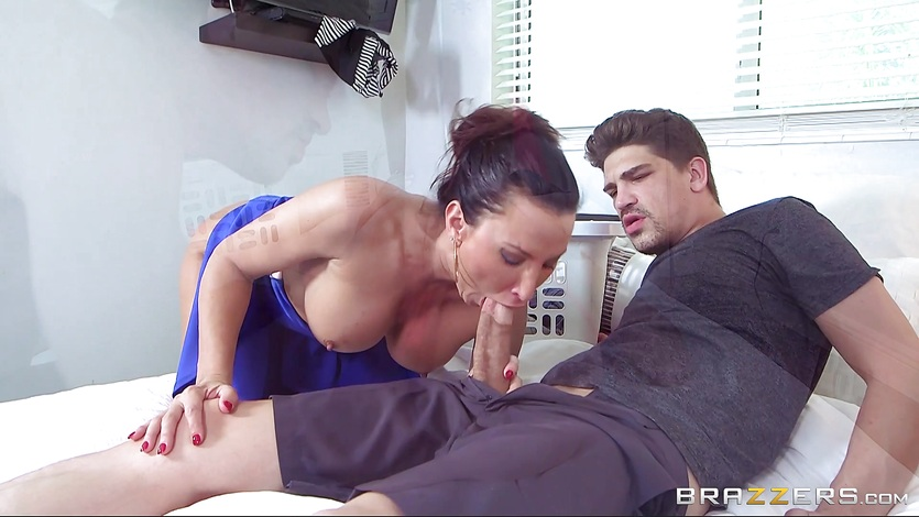Busty Lezley Zen bent over and drilled