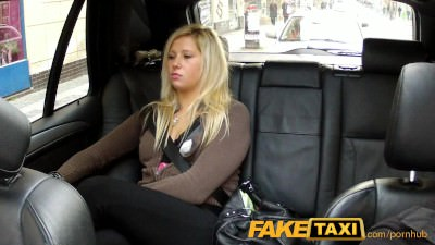 FakeTaxi Blonde has sex from behind in taxi - Porn Video 611