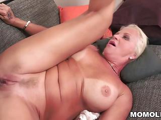 Interracial granny anal fuck