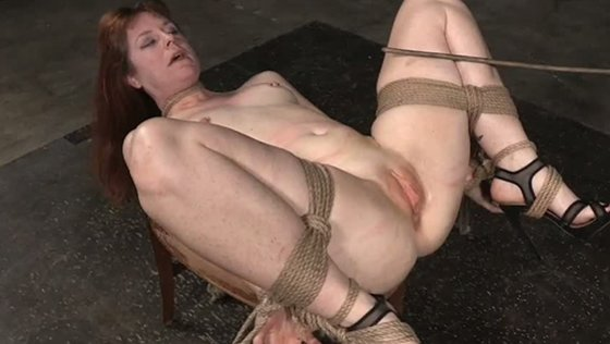 Dark haired miserable slut Barbary Rose gets harshly bound and double team fucked hard as well - BDSM porn