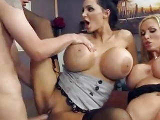 Two big titty cheaters fucking with lucky student - Sunporno Uncensored