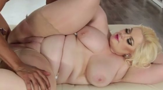 Black dude bangs incredibly fat blond sweetie Klaudia Kelly in mish and doggy poses rough - Fat porn