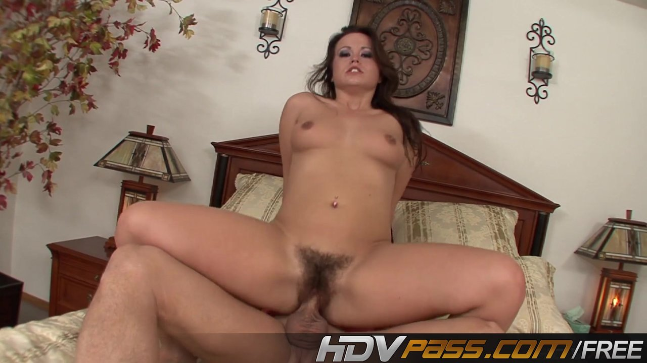 Brunette With Hairy Pussy Kaci Star Pussy Licking Fucking A Big Cock