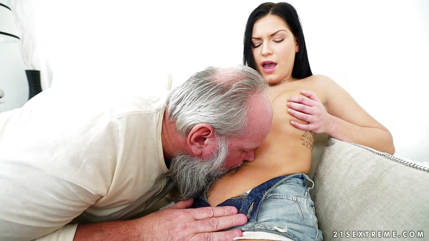 Kinky Suzy fucked by an old man