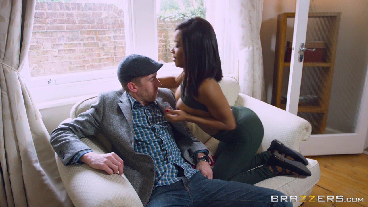 Gorgeous Black Woman Seduced By A Hunk With A Big Rod