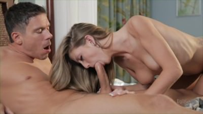 Hardcore Sex On Bed With Pretty Blonde - Porn Video 761