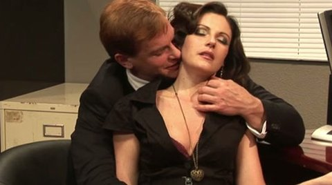 Office Seductions kissing - MILF porn